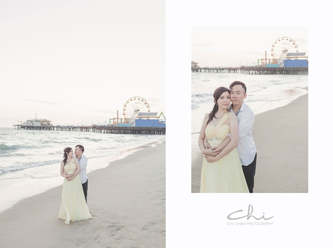 TR Eng 16 Los Angeles Santa Monica Engagement Photo